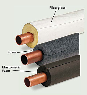Cheaper hot water finehomebuilding for Best copper pipe insulation