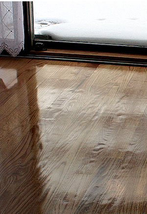 Every floorboard contains both soft spring wood, which is the dark grain in  each board, and dense late-season wood. The soft spring wood in this floor  ...