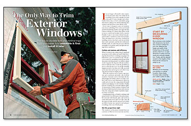 The Only Way To Trim Exterior Windows Fine Homebuilding