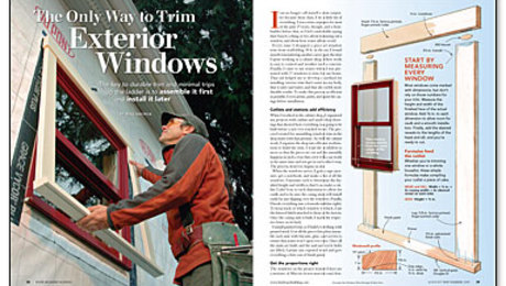 The Only Way To Trim Exterior Windows