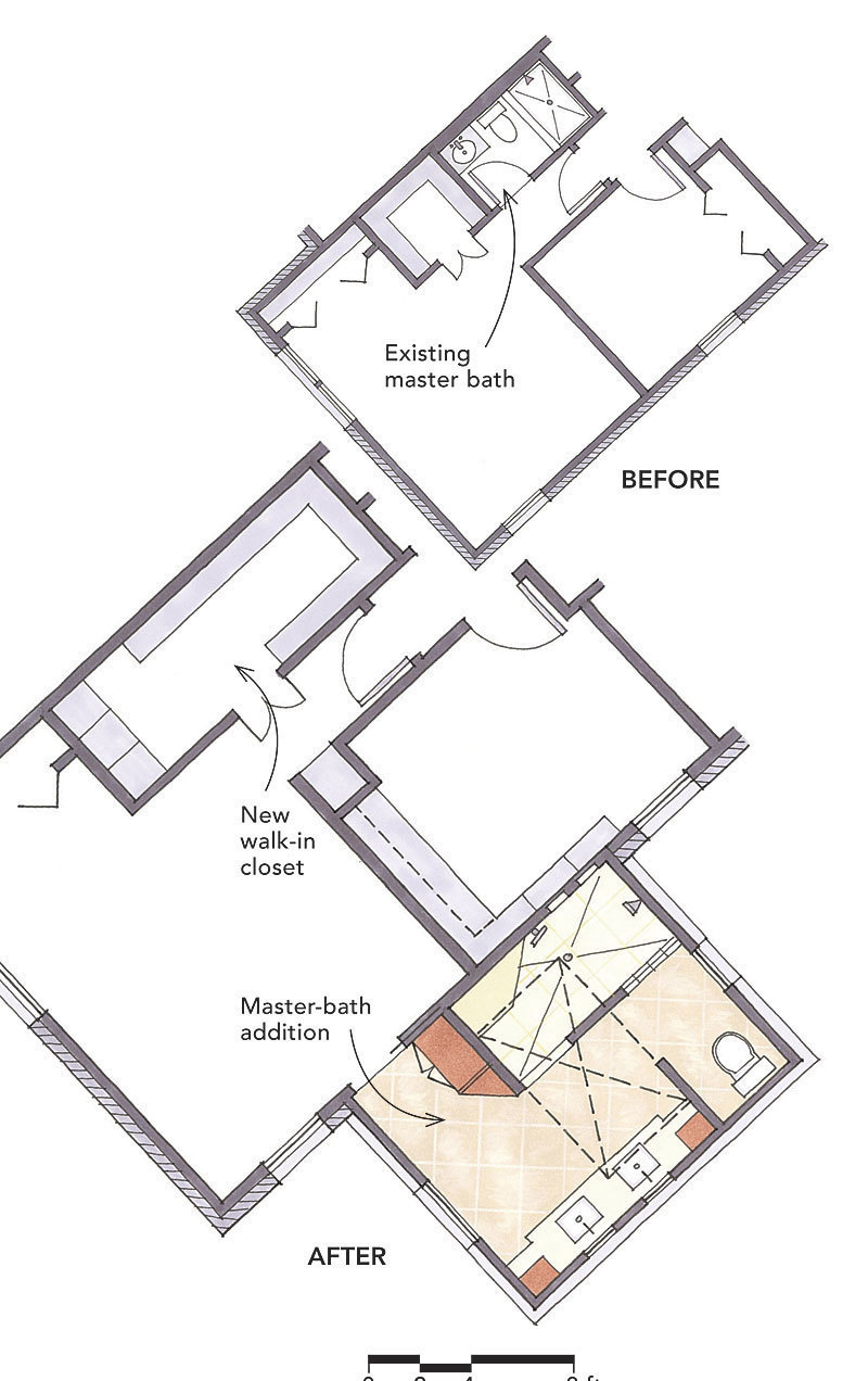 Floor plans for bathrooms