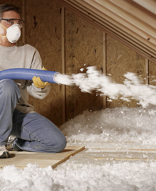 Blown insulation for attics fiberglass vs cellulose for Blown in insulation vs batts