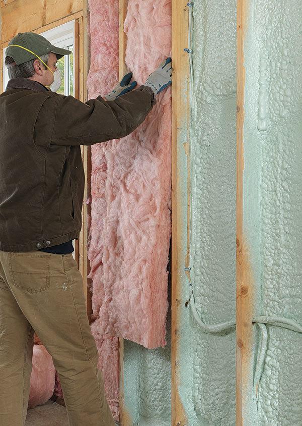 Why flash and batt makes sense fine homebuilding for Batt insulation cost