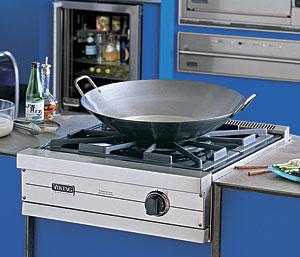 Wok burners the power of one fine homebuilding for Viking wok burner