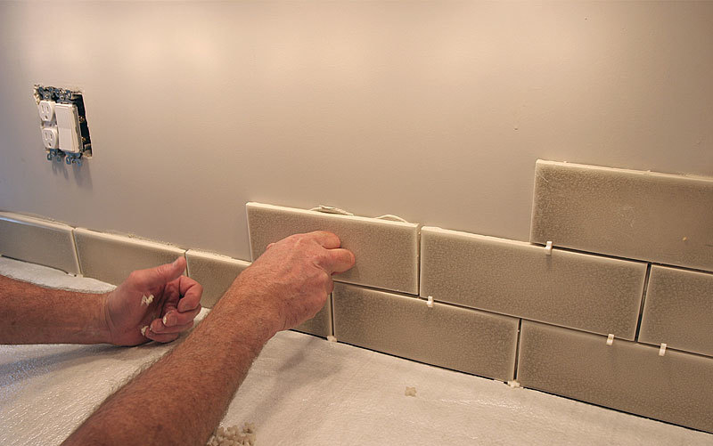 Tiling A Backsplash Inside Corner