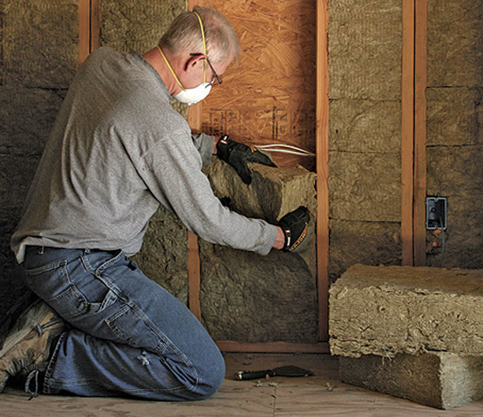 Mineral wool makes a comeback fine homebuilding for Mineral wool installation