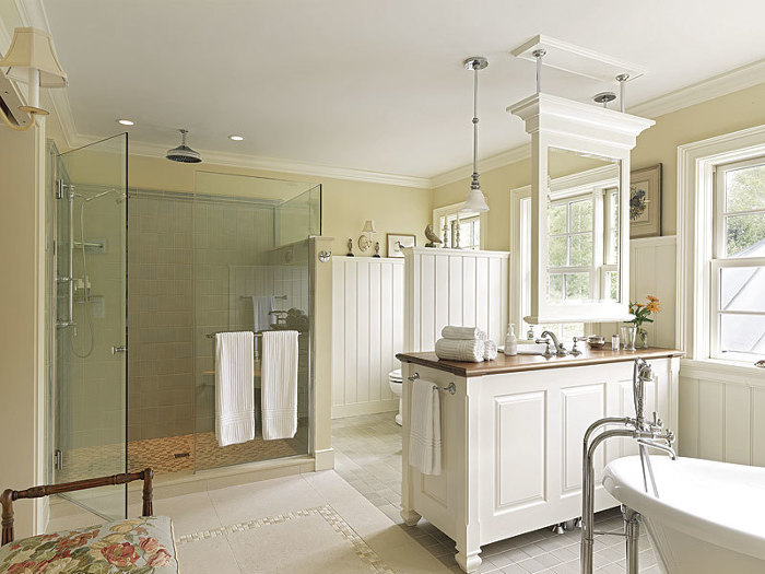 A Traditional Country Bath Fine Homebuilding