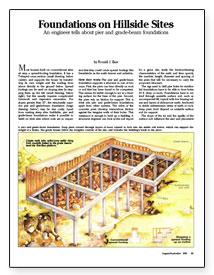 Foundations On Hillside Sites Fine Homebuilding