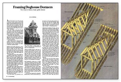 framing doghouse dormers