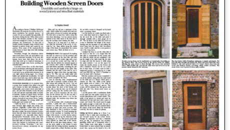 Screen Doors Fine Homebuilding