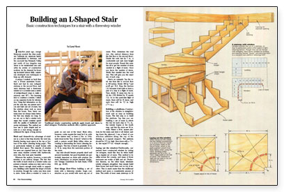 Building an l shaped stair fine homebuilding for Building winder stairs