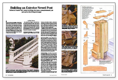 Building an Exterior Newel Post - Fine Homebuilding