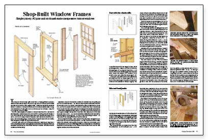 shop built window frames