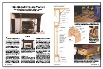 Building a Fireplace Mantel - Fine Homebuilding