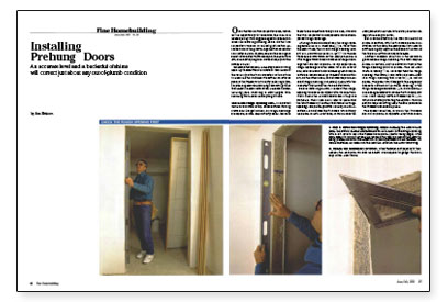 Installing prehung doors fine homebuilding article image this is a detailed guide to installing prehung doors planetlyrics Choice Image