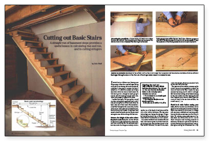 Cutting Out Basic Stairs Fine Homebuilding