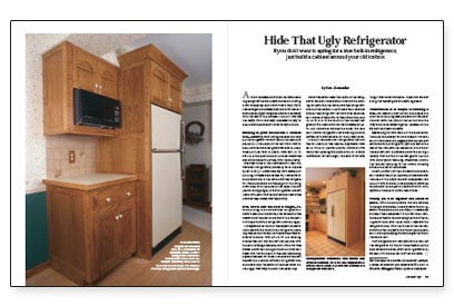 Hide That Ugly Refrigerator - Fine Homebuilding