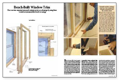 Bench-Built Window Trim - Fine Homebuilding