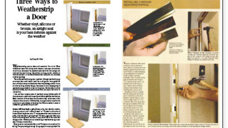 Three Ways to Weatherstrip a Door  sc 1 st  Fine Homebuilding : door weatherstripping - pezcame.com