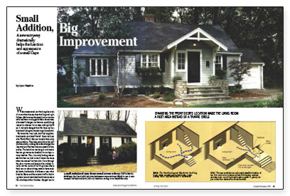Small addition big improvement fine homebuilding for Building an entryway addition