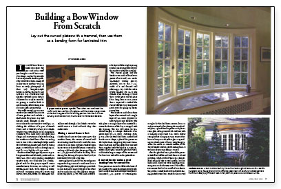 Building A Bow Window From Scratch Fine Homebuilding