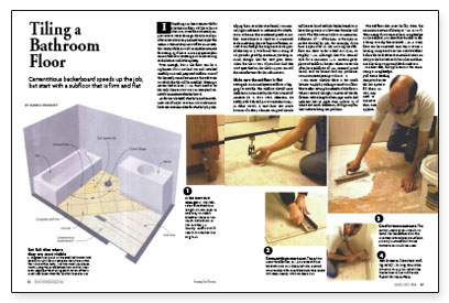 Tiling A Bathroom Floor Fine Homebuilding - Tiling a bathroom floor where to start