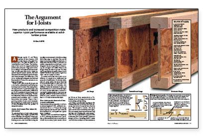 The argument for i joists fine homebuilding for I joist vs floor truss