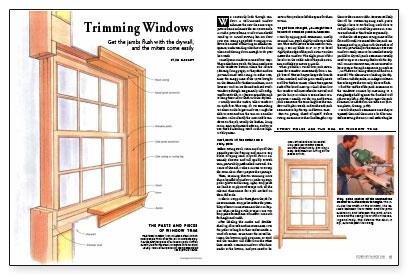 Trimming windows fine homebuilding for Window jamb design