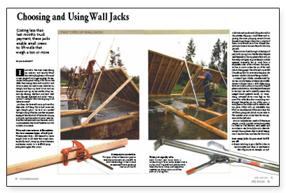 Wall Jacks For Framing choosing and using wall jacks - fine homebuilding