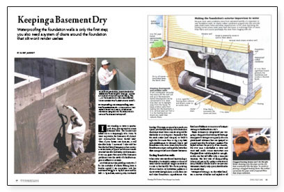 keeping unwanted water out of the basement the author explains how