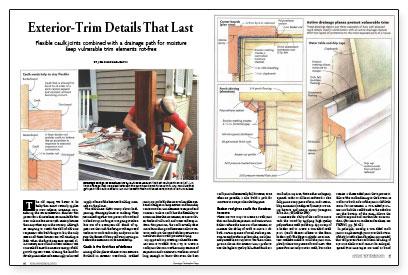 Exterior Trim exterior-trim details that last - fine homebuilding