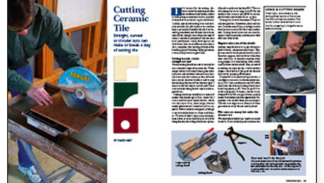 How to cut ceramic tile with a wet saw