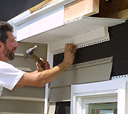 how to finish soffit corners