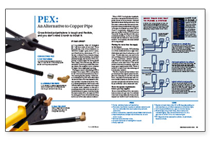 Pex an alternative to copper pipe fine homebuilding for Pex pros and cons