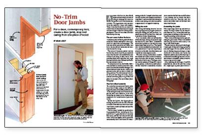 No Trim Door Jambs Fine Homebuilding