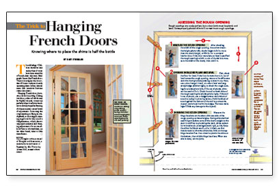 The trick to hanging french doors fine homebuilding - How to hang interior french doors ...