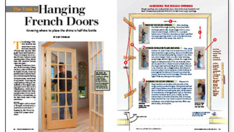 The Trick To Hanging French Doors Fine Homebuilding
