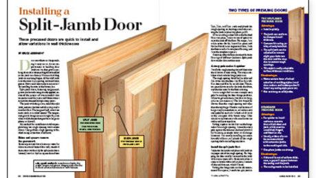 Installing A Split Jamb Door Fine Homebuilding
