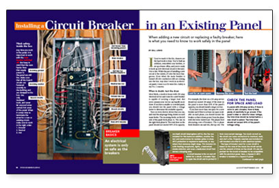 Installing a Circuit Breaker in an Existing Panel - FineHomeBuilding