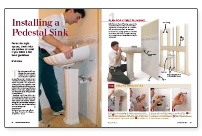 installing a free standing sink isn t rocket science but there are a ...