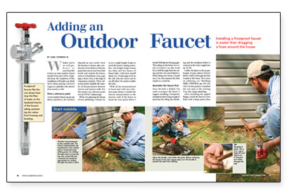 Adding an Outdoor Faucet