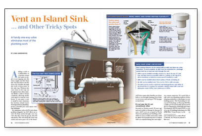 proper drain vent for island sink intended for plumbing