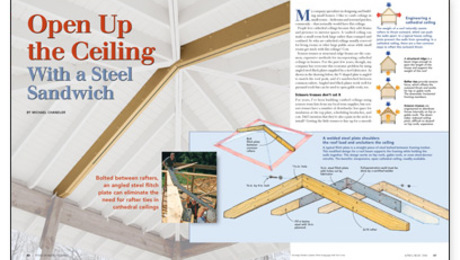 open up a ceiling with a steel sandwich