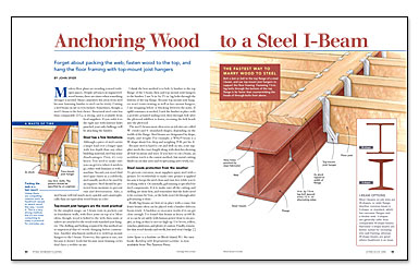 Anchoring Wood To A Steel I Beam Fine Homebuilding