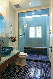 A Skylit Steam Bath Shower In Cantilevered Bump Out Is The Highlight Of This Remodeled Bathroom