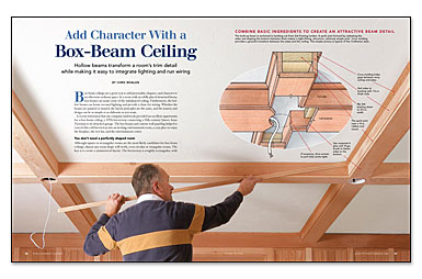 Add character with a box beam ceiling fine homebuilding for How to add beams to a ceiling