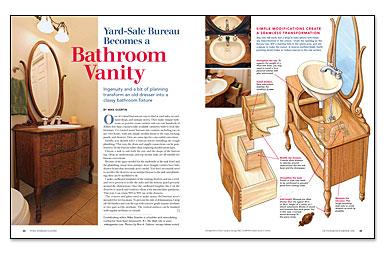 Bathroom Vanity Sale yard-sale bureau becomes a bathroom vanity - fine homebuilding