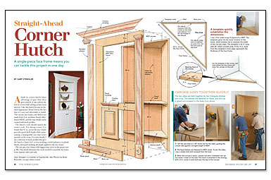 Spicing Up A Living Room Or Dining Corner With Built In Hutch Doesnt Mean Undertaking Time Consuming Project Builder Gary Strieglers Method