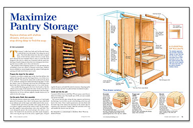 Maximize pantry storage fine homebuilding Maximize kitchen storage