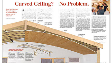 Curved Ceiling? No Problem.